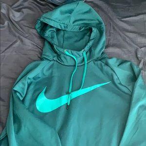 Teal color Nike dry fit hoodie